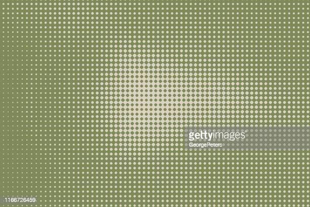 カラフルなハーフトーンパターン抽象的な背景 - カーキグリーン点のイラスト素材/クリップアート素材/マンガ素材/アイコン素材