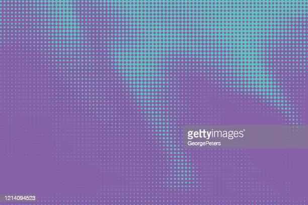 illustrazioni stock, clip art, cartoni animati e icone di tendenza di sfondo astratto a motivo mezzitoni colorato con colori flui - gol di pareggio
