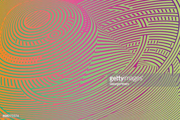 Colorful Halftone pattern technology background