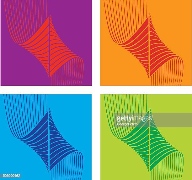 Colorful Halftone Pattern Technology Icons Set