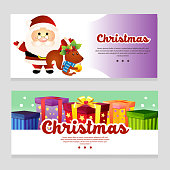 colorful halloween theme banner with present box