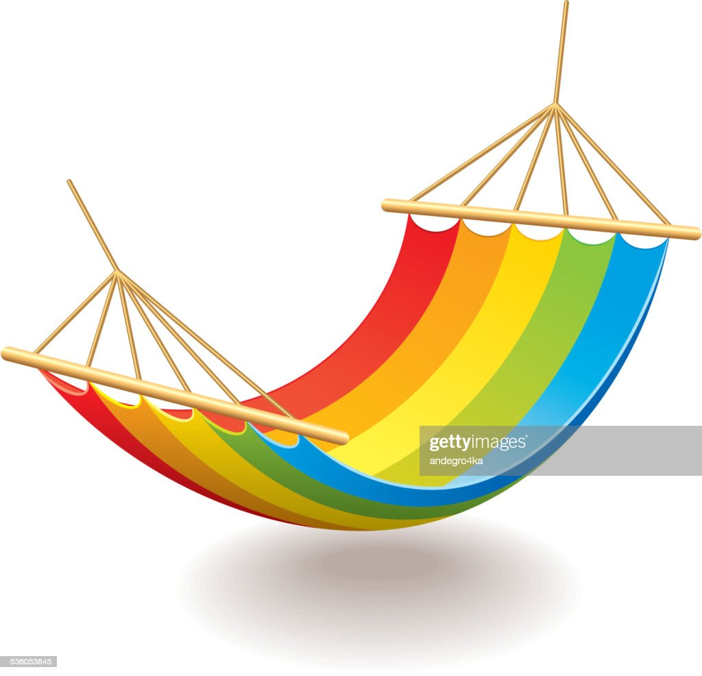 Colorful hammock isolated on white vector