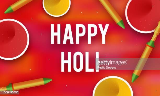 bunte happy holi hintergrund-stock-illustration - farbpulver stock-grafiken, -clipart, -cartoons und -symbole