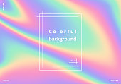 Colorful holographic background