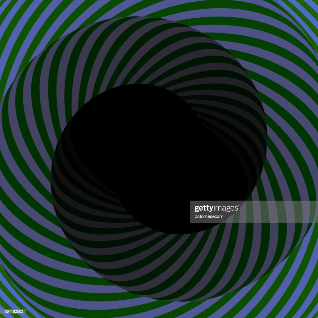 Colorful hypnotic tunnel