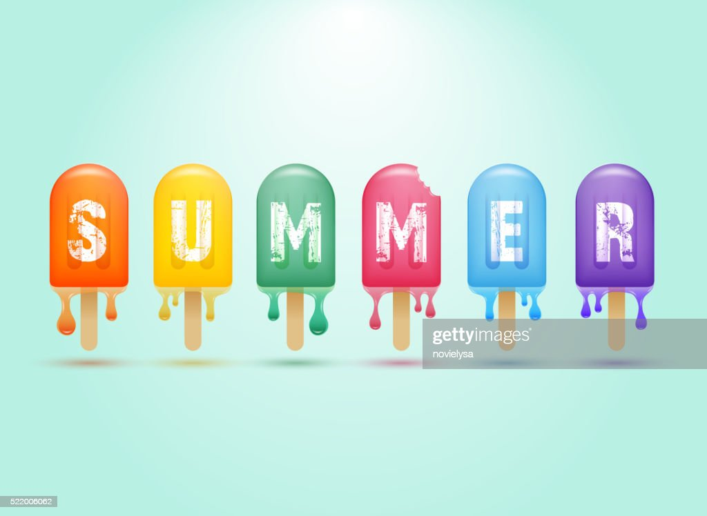 Colorful ice cream bar on a stick