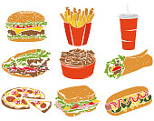Colorful Icon Set Fast Food I