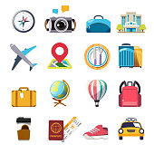 Colorful icon travel concept. Object element.