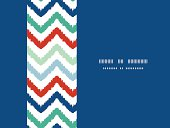 Colorful ikat chevron horizontal border seamless pattern background