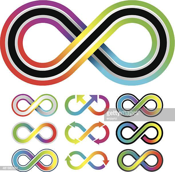 Colorful infinity symbols