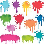 Colorful jelly splatters