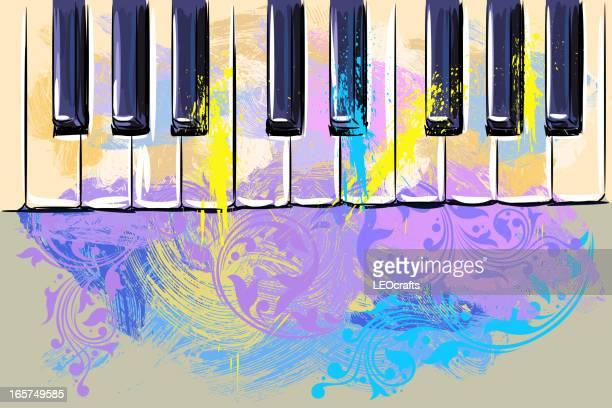 ilustraciones, imágenes clip art, dibujos animados e iconos de stock de colorido teclado - tecla de piano