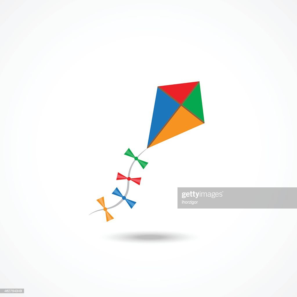 Colorful kite illustration on a white background