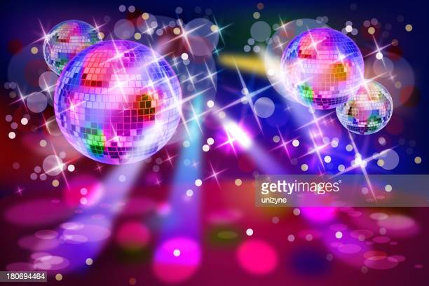 Colorful Lights on Stage with Disco Balls