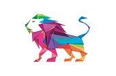 Colorful Lion body Design