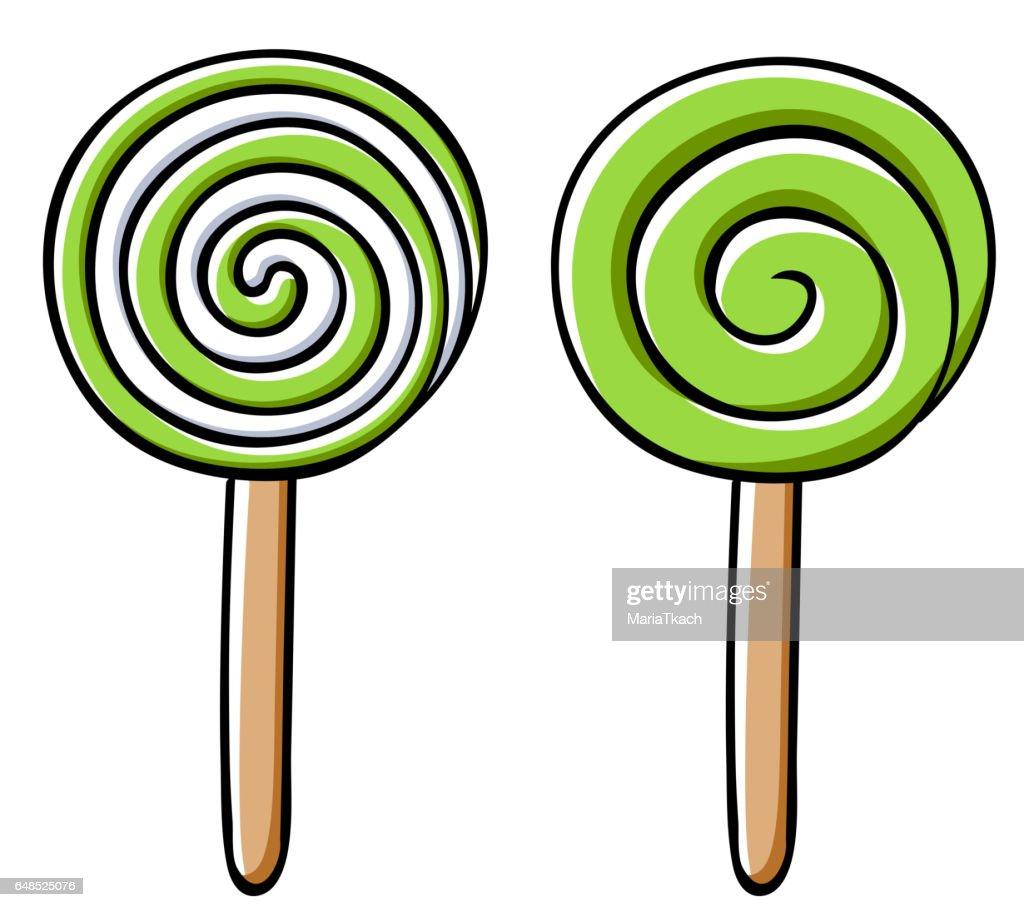 Colorful lollipops icons set - vector illustration