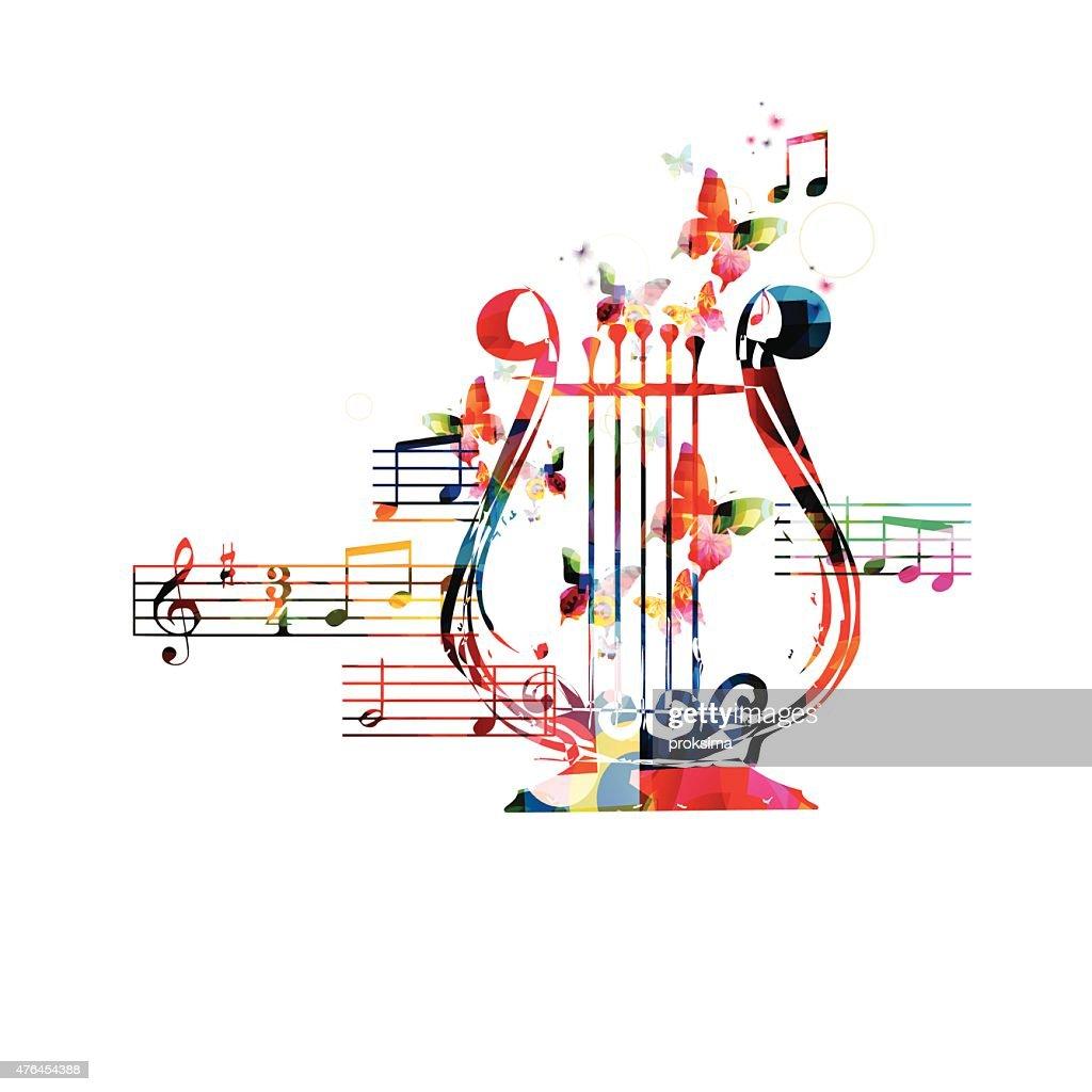 Colorful lyre design