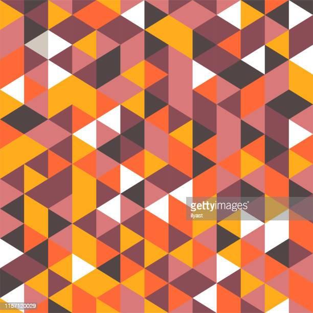 colorful minimal mosaic vector pattern design - brown stock illustrations