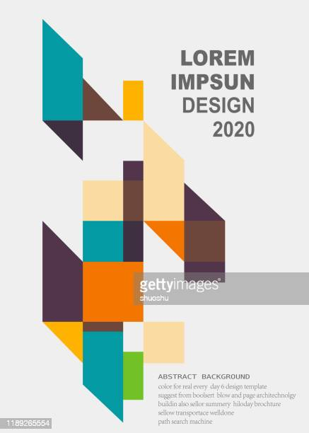 colorful minimalism geometric pattern background for design - rectangle stock illustrations