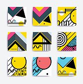 Colorful minimalistic geometric design