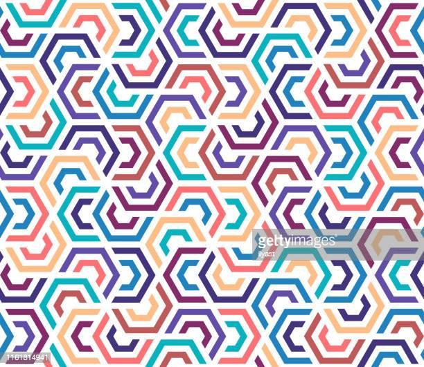 bunte & moderne geometrische vektor muster design - bildschirmpräsentation stock-grafiken, -clipart, -cartoons und -symbole
