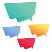 Colorful Modern Speech Bubbles