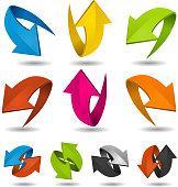 Colorful Motion Arrows Set
