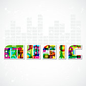 Colorful Musical Backgrouns
