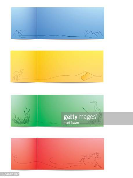 Colorful Nature Cards. Vector Illustration