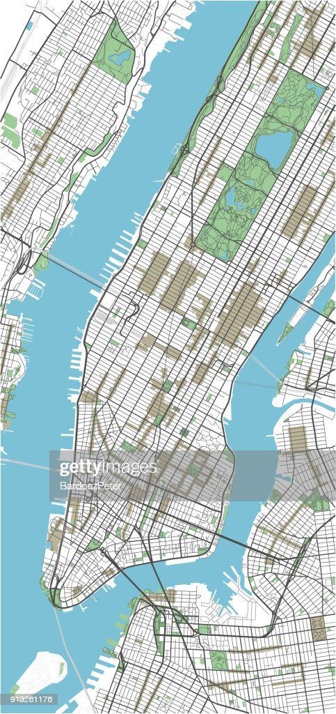 Colorful New York vector city map