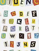 Colorful Newspaper Cut Letters Set