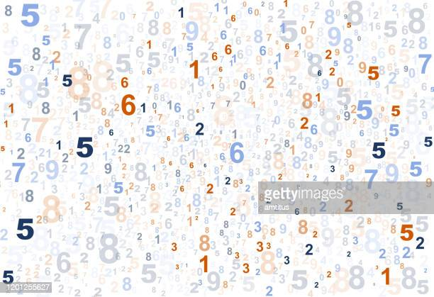 colorful numbers pattern - counting stock illustrations
