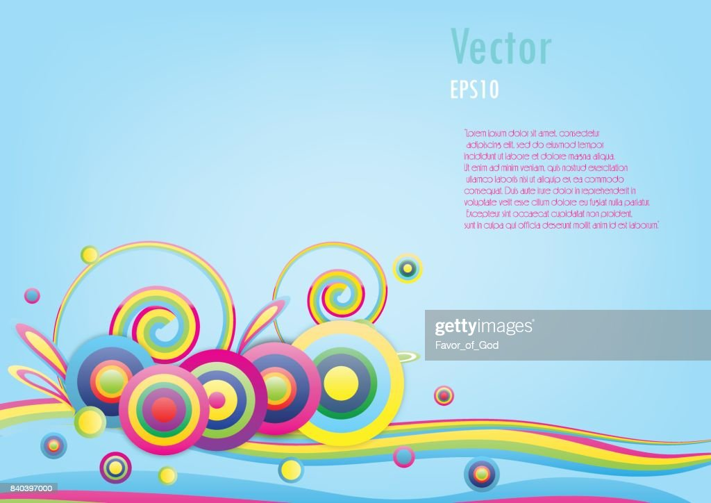 colorful of rainbow circle background. Vector illustration