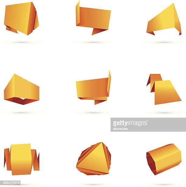 Colorido conjunto de origami