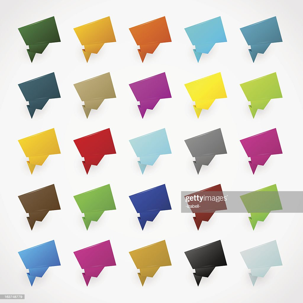 Colorful origami stickers