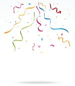 Colorful party confetti o white background