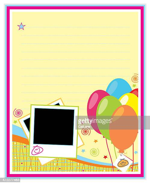 colorful party page - gift tag note stock illustrations, clip art, cartoons, & icons