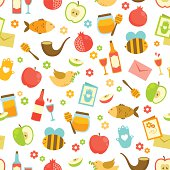 colorful pattern for Rosh Hashanah