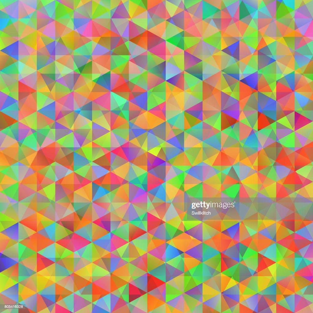 Colorful pattern with chaotic triangles