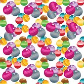 Colorful pattern with lot of gumballs mixed colors.