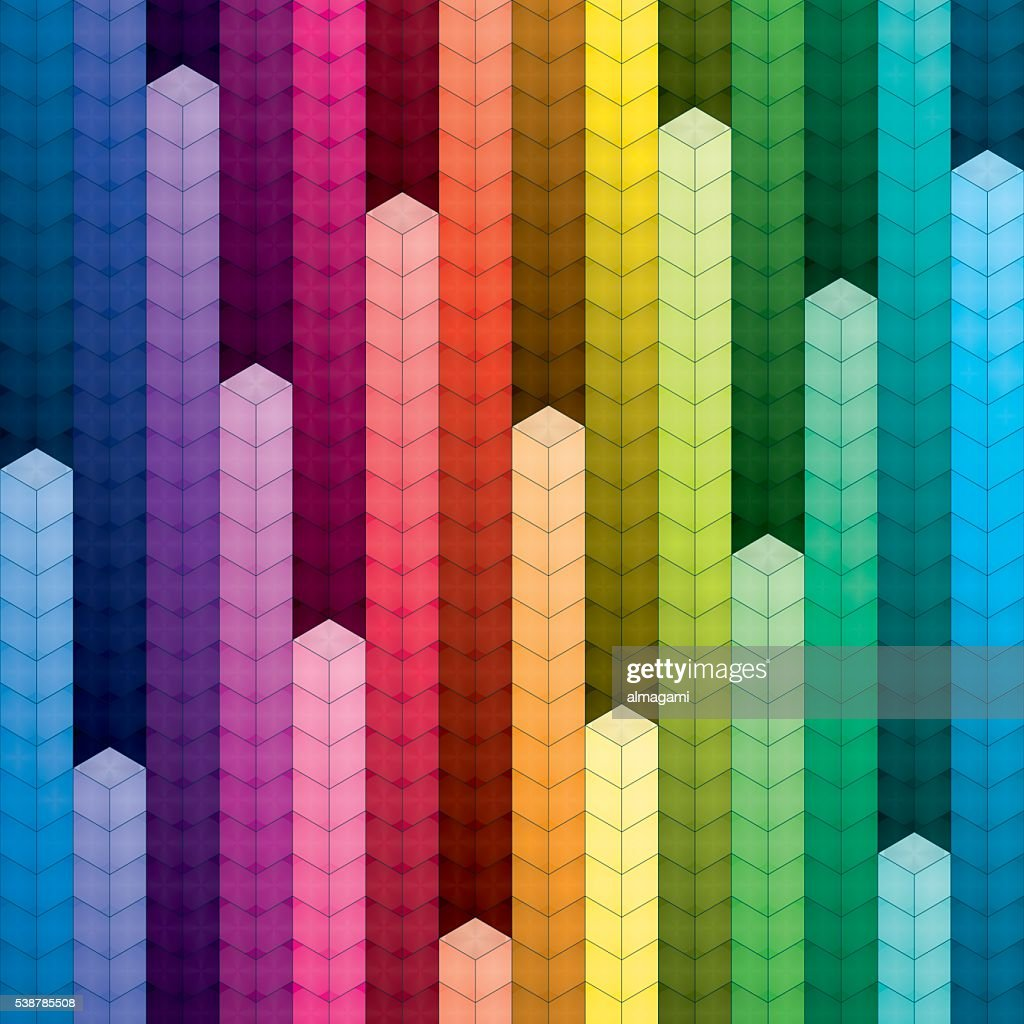 Colorful piles of cubes background