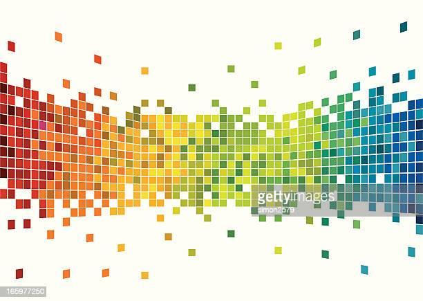 Colorful pixels design
