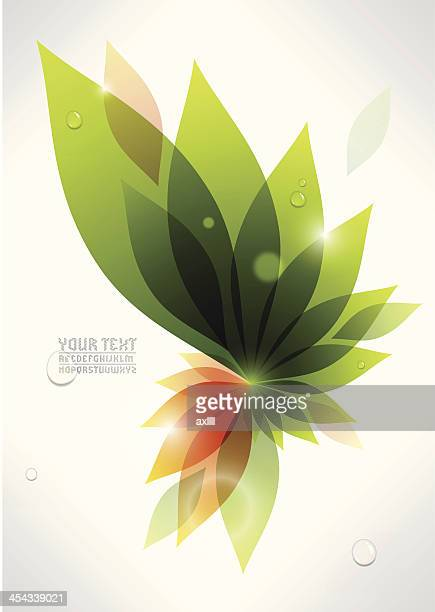 colorful plant background - rot stock illustrations