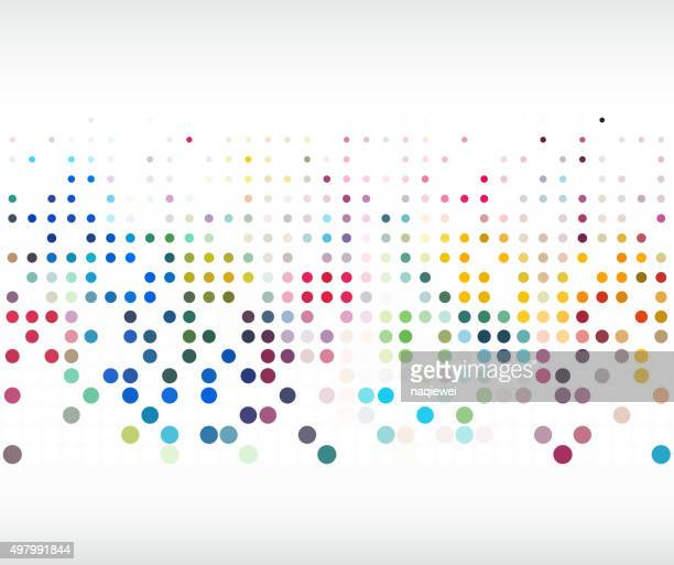 colorful polka dot pattern background