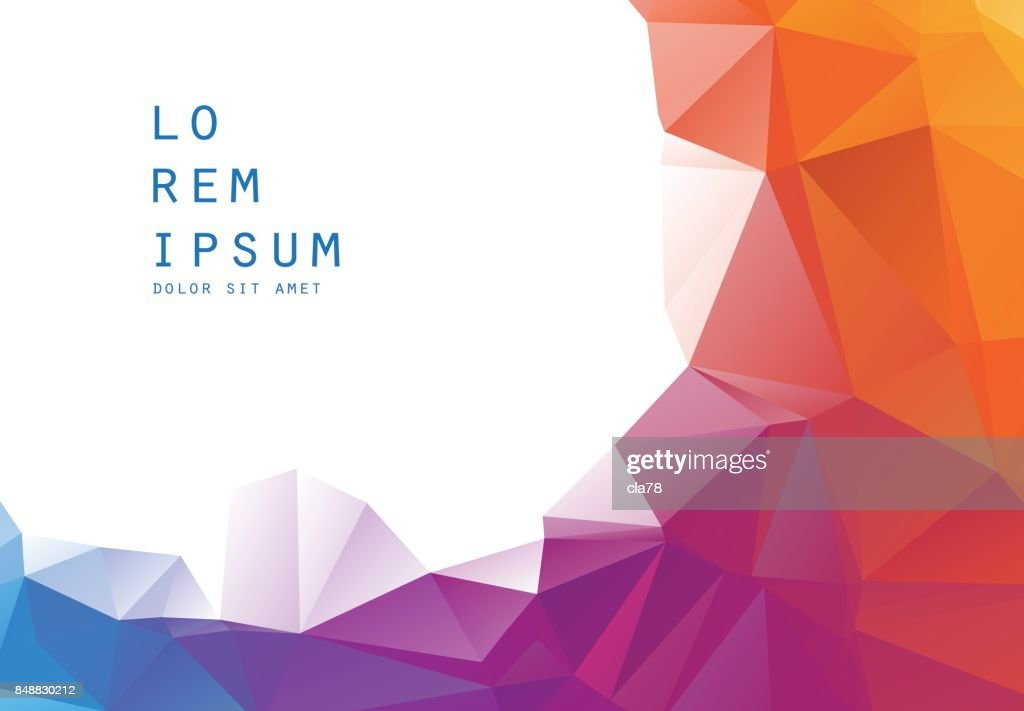 Colorful polygonal background; low poly