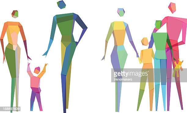 Colorful Polygonal family