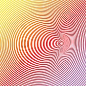 Colorful Pop Art Halftone Pattern Concentric Circles