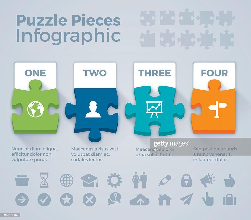 Colorful Puzzle Pieces Infographic