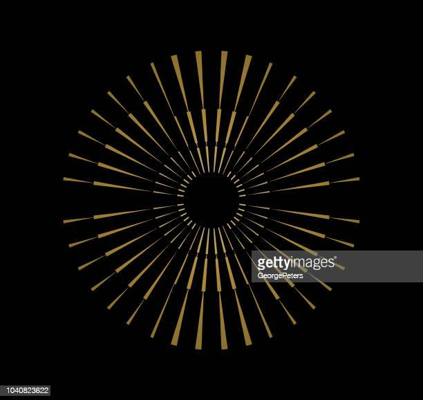Kleurrijke radiaal symmetrisch Burst ontwerpelement