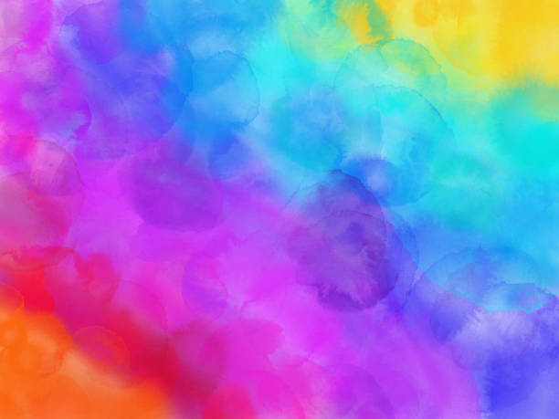 colorful rainbow watercolor background. - rainbow stock illustrations